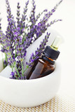 Fototapety lavender and mortar and pestle