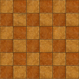 Section of ceramic two-tone brown stone tiles seamlessly tileabl poster