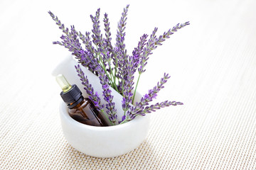 lavender and mortar and pestle