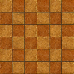 Section of ceramic two-tone brown stone tiles seamlessly tileabl