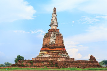An ancient pagoda, Temple in Ayutthaya, Thailand