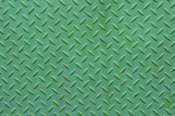 Metallstruktur – grünes Riffelblech (green checker plate)