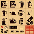Coffee Icons. Coffee machine. Coffee preparation