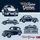 Classic cars. Retro Garage set 2.