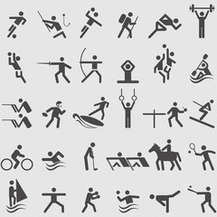 Sport icons set. Vector
