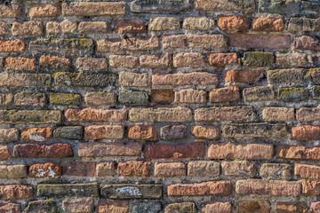 Medieval Fortress Antique Brick Rampart