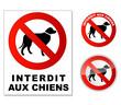 Plaque interdit aux chiens