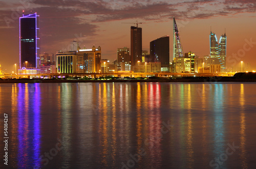 Striking illumination & reflection of Bahrain higrise