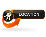 location sur bouton web design orange