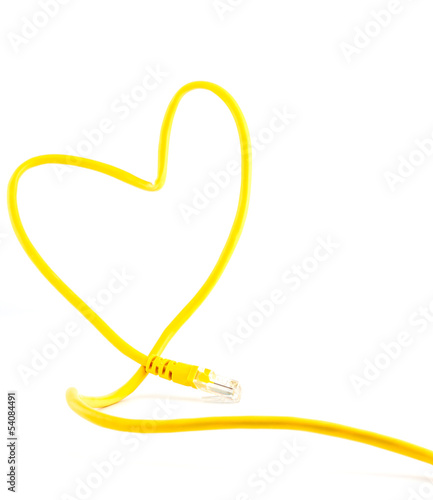 love sign with Rj45 connector