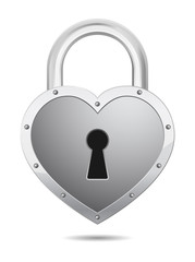 padlock icon heart shape