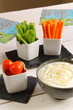 Assorted vegetables with dip