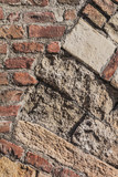 Medieval Fortress Antique Brick Rampart - Arch Detail
