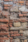 Medieval Fortress Antique Brick Rampart Detail