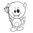Cute devil - Halloween coloring page