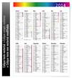 Calendrier 2014 (avec option calque non vectorisé)