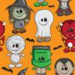 Seamless background - Halloween kids