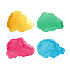 Bright watercolor elements for design