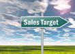 "Signpost ""Sales Target"""
