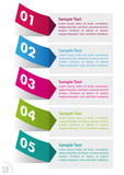 Five Colorful Sticker Infographic