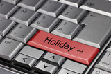 Computer Keyboard with Holiday key