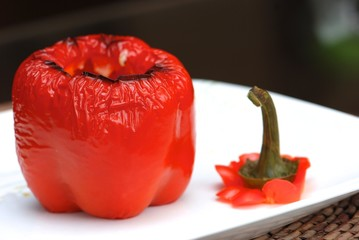 Baked pepper
