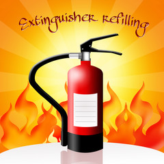 Extinguisher refilling
