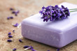 Bar of violet soap