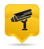 surveillance camera yellow icon