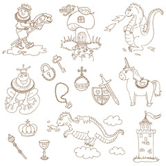 Prince Boy Set - for design and scrapbook - in vector