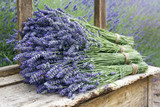 Pile of lavender flower bouquets - 54089292