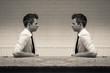 Leinwandbild Motiv mirroring in the communication conversation