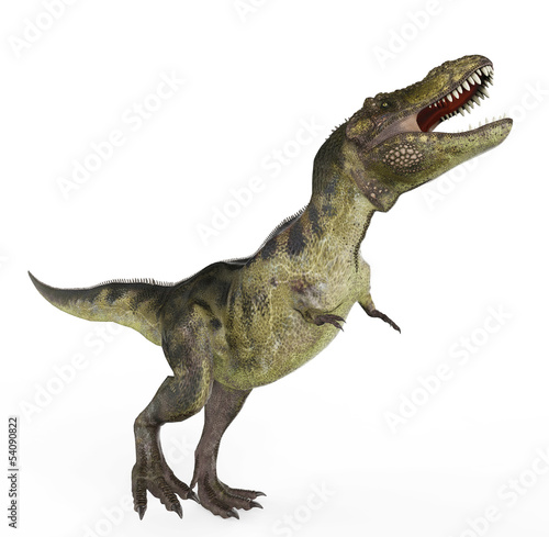 green t rex walking
