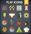 Universal Flat Icons for Web and Mobile Applications Set 15