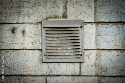 metal ventilation window on wall background wall background - 54092091