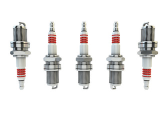 Illustration of Spark plugs isolated in white background / Spark