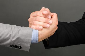 Suit handshake