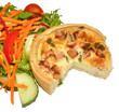 Bacon And Leek Quiche With Salad