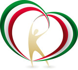 Logo best love with italian flag