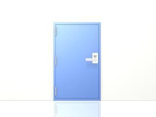 Simple image metal access door