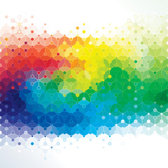 Abstract colors background of DNA molecule structure.