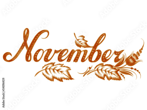 November the name of the month