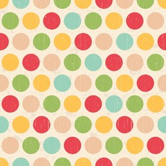 seamless grunge circles polka dots background texture