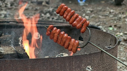 Roasting Small Sausages