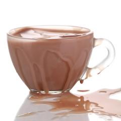 Chocolate splash isolated on white