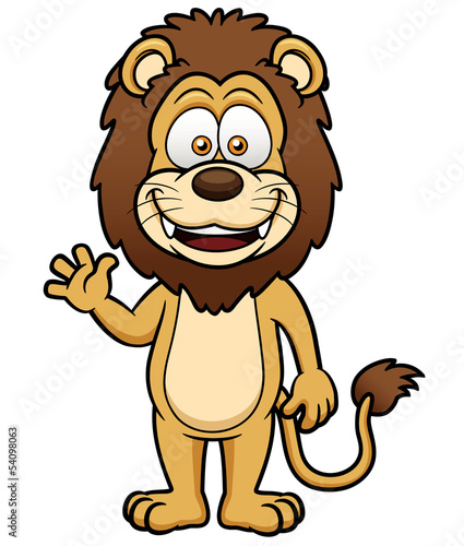 Vector illustration of Cartoon lion