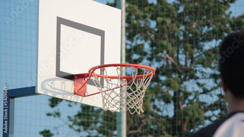 Basketball field goal - success