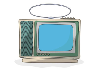 Retro cartoon  tv set
