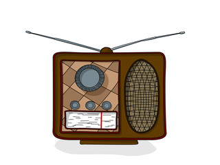 Cartoon radio drawing