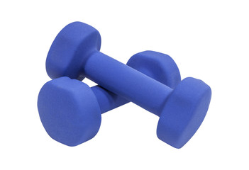 Blue Dumbells Isolated